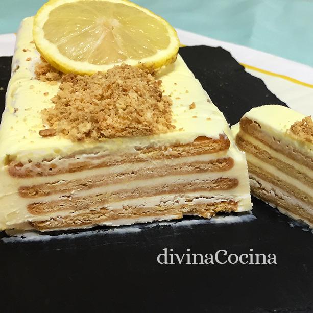 tarta helada de limon