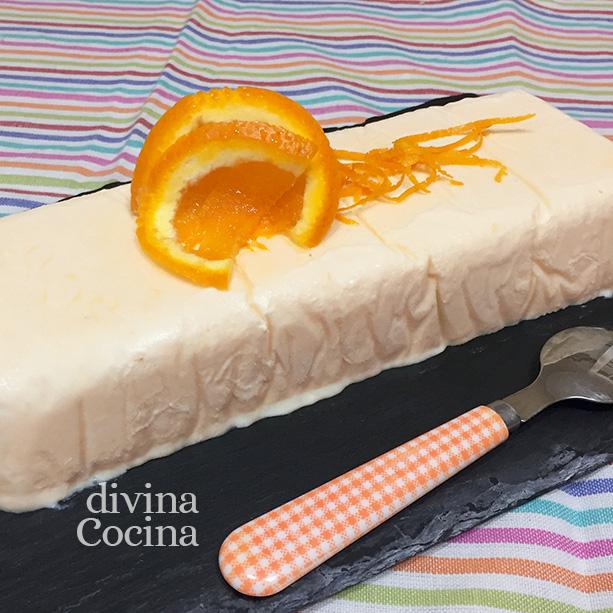 tarta helada naranjas detalle
