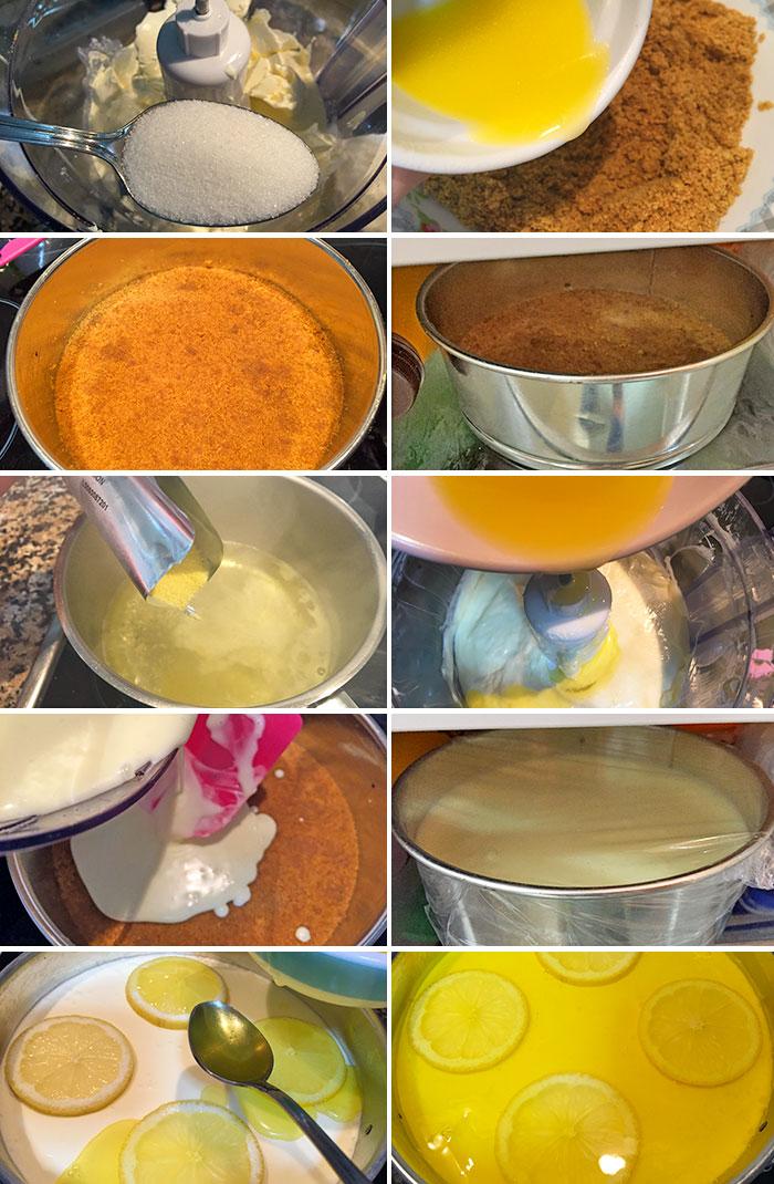 tarta de queso y limón paso a paso