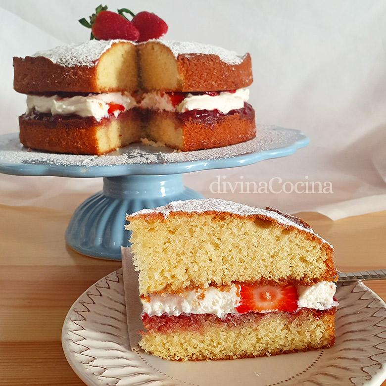 tarta reina victoria sponge cake