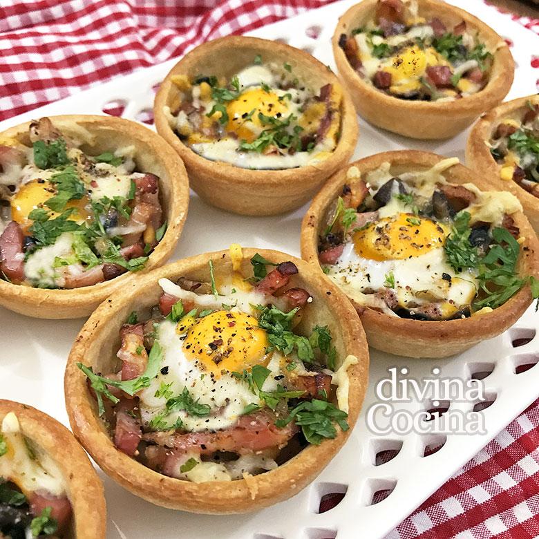 Receta de Tartaletas de huevos de codorniz - Divina Cocina