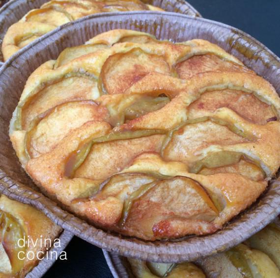 tartaletas de manzana y queso