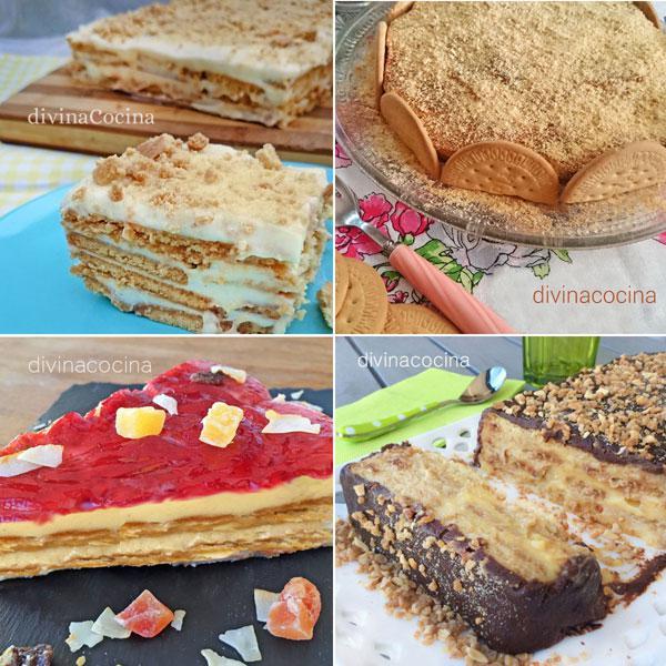 tartas de galletas fáciles