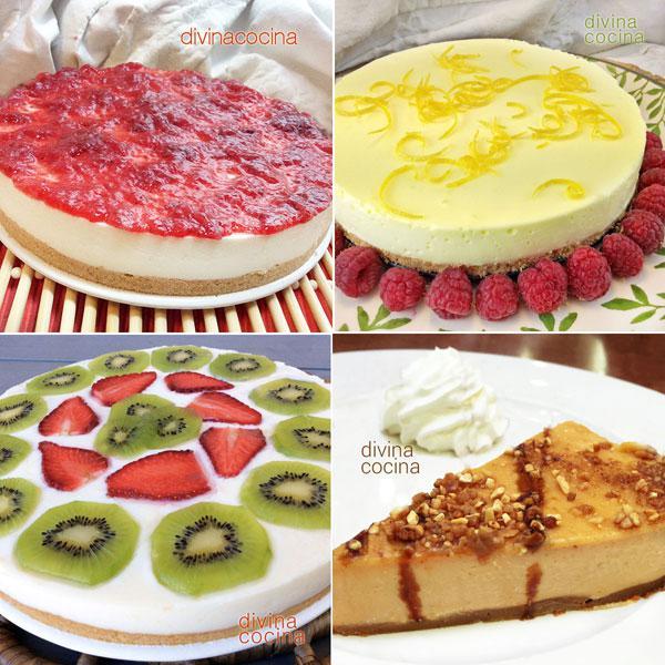7 tartas sin horno que siempre salen bien Divina Cocina