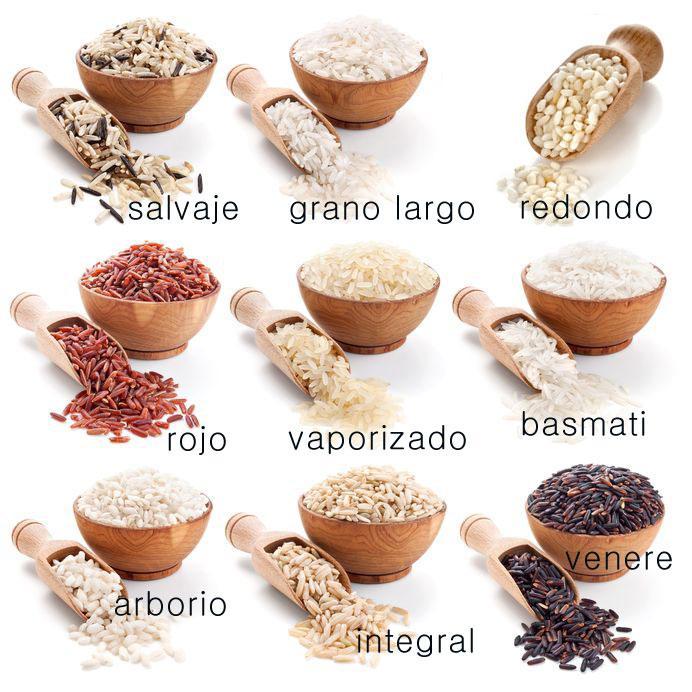 Usos y variedades del arroz