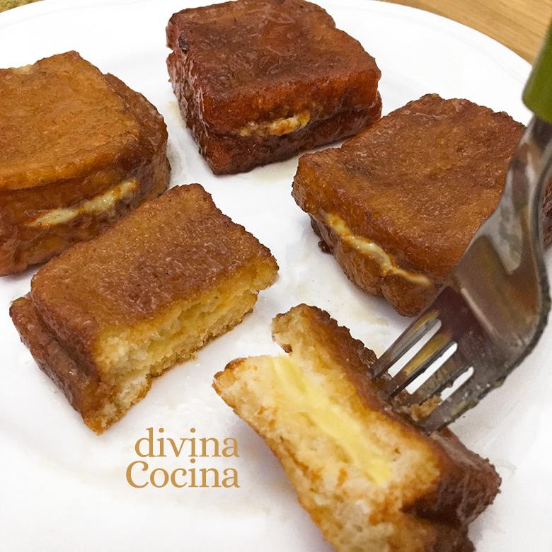 receta de torrijas rellenas de crema