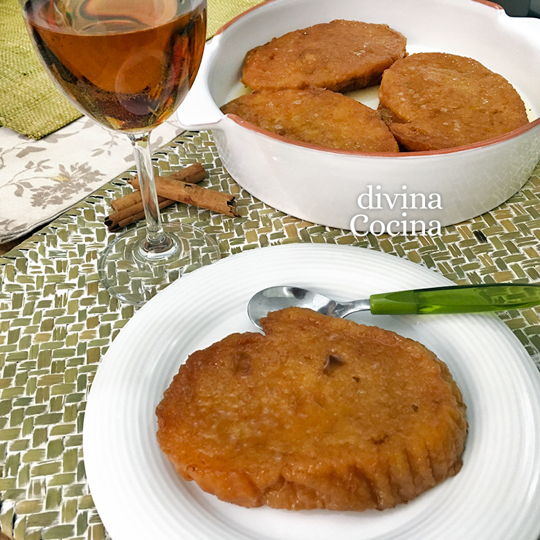 receta de torrijas de moscatel