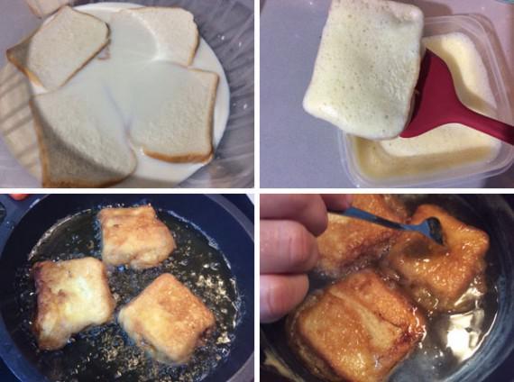 torrijas de leche y canela