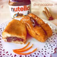 Torrijas rellenas de Nutella o Nocilla