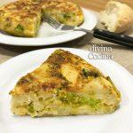 Tortilla de brócoli y queso
