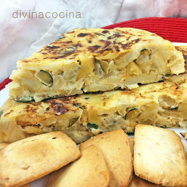 Tortilla de calabacín y patata
