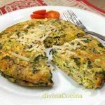 Tortilla de espinacas y queso