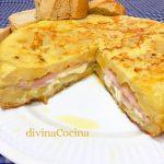 Tortilla de patatas, jamón y queso