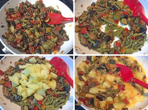 tortilla de patatas con verduras paso a paso