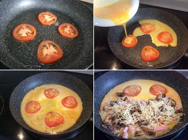 tortilla napolitana estilo pizza paso a paso