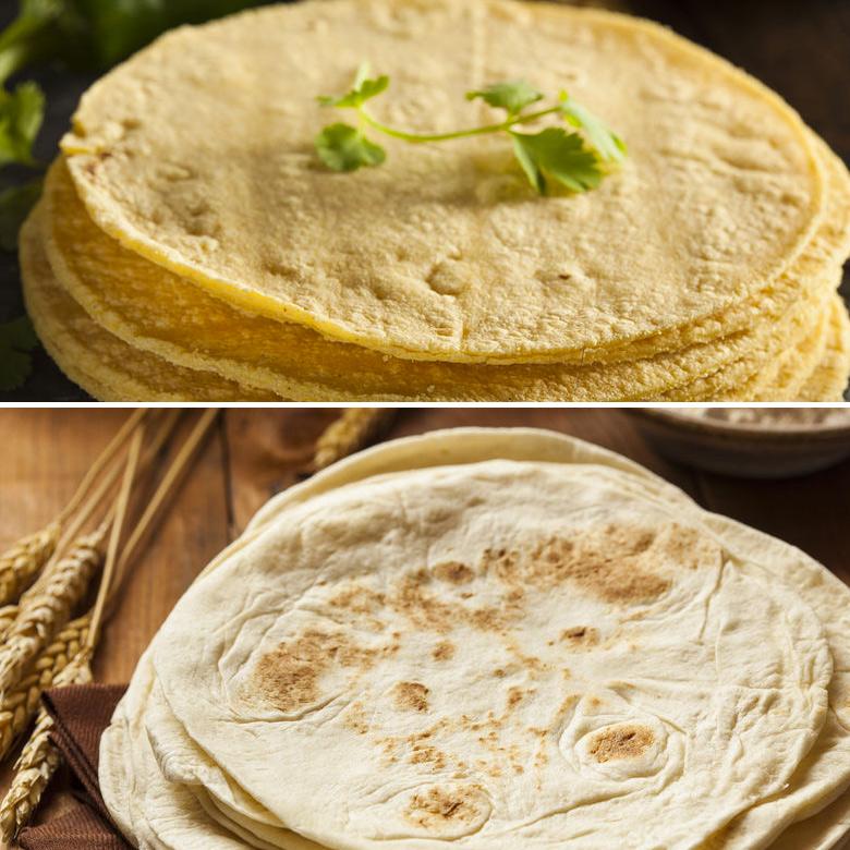 tortillas de trigo y maiz mexicanas
