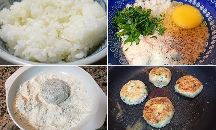 tortitas de arroz paso a paso