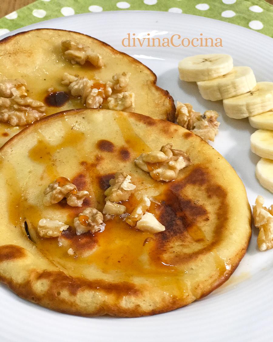 Receta De Tortitas De Plátano Y Yogur Divina Cocina