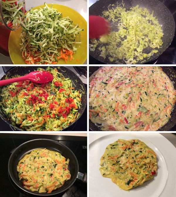 tortitas de verduras paso a paso