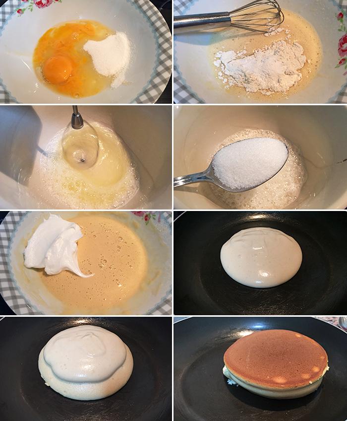 tortitas sufle paso a paso