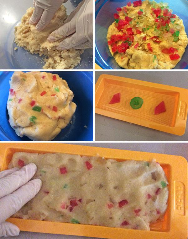 receta de turron de mazapan y fruta confitada