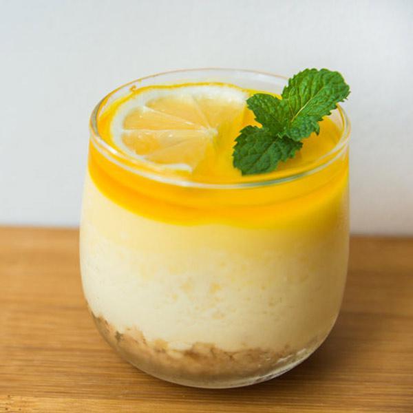 tarta de limón fácil en vasito