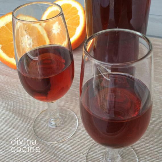 vino de naranja casero