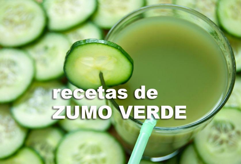 zumo verde recetas